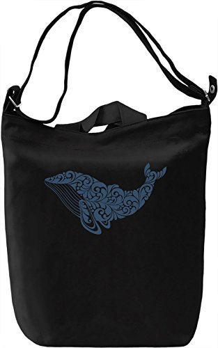 Whale Borsa Giornaliera Canvas Canvas Day Bag| 100% Premium Cotton Canvas| DTG Printing|