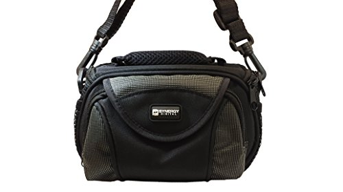 JVC GC-XA1 ADIXXION Camcorder Case Camcorder and Digital Camera Case - Carry Handle & Adjustable Shoulder Strap - Black / Grey - Replacement by Synergy