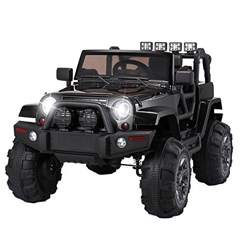 TOBBI-Kids-Ride-on-Truck-Style-12V-Battery-Powered-Electric-Car-WRemote-Control-Black