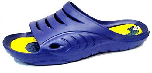 dema , Herren Hausschuhe Blau Blau / Gelb 42