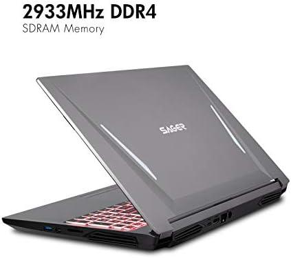 Sager NP7858DW 15.6-Inch Thin Bezel FHD 144Hz Gaming Laptop, Intel i7-10875H, RTX 2060 6GB, 16GB RAM, 500GB NVMe SSD, Windows 10 41P9NvRrw1L