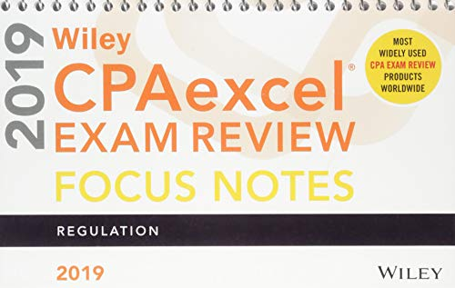Pdf Test Preparation Wiley CPAexcel Exam Review 2019 Focus Notes: Regulation
