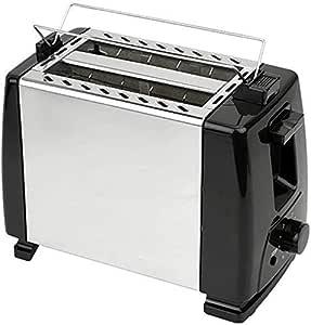Drohneks Top Sale 600W Tostadora eléctrica Parrilla eléctrica Emparedadora automática Máquina para Hacer Pan 2 rebanadas Desayuno
