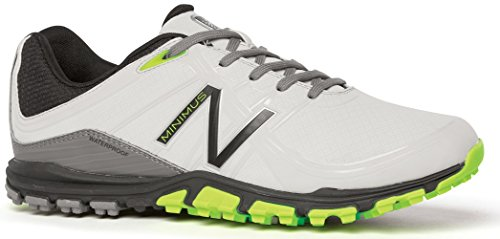New Balance Men's Minimus Golf Shoe, Grey/Green, 8.5 D US NBG1005GRG