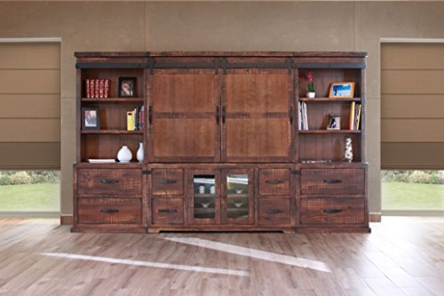 Large Entertainment Unit (Crafters and Weavers Granville Rustic Brown 122