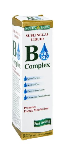 Nature's Bounty Vitamin B Complex Sublingual Liquid 2 oz ( Pack of 18) by Nature's Bounty