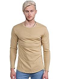 SBW Men's Long Sleeve Round Bottom Zipper Tee