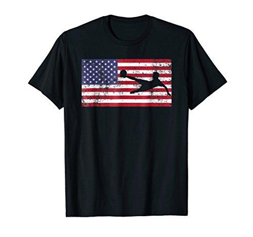 Fourth 4th of July Shirt American Flag Soccer Men Boys (Usa Women's Soccer Halloween Costumes)