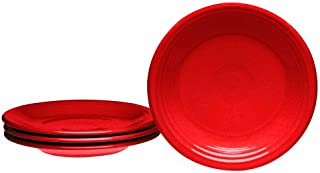 product image for Fiesta 7-1/4-Inch Salad Plates, Set of 4, Scarlet