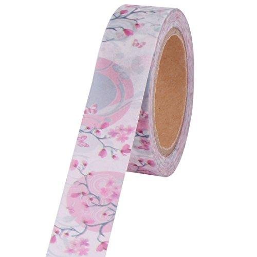 Amazon.com: Impresión de la Flor eDealMax escuela de la oficina Artesanía de Scrapbooking Washi Rollo de Cinta DE 1,5 cm x 10m 2pcs: Health & Personal Care