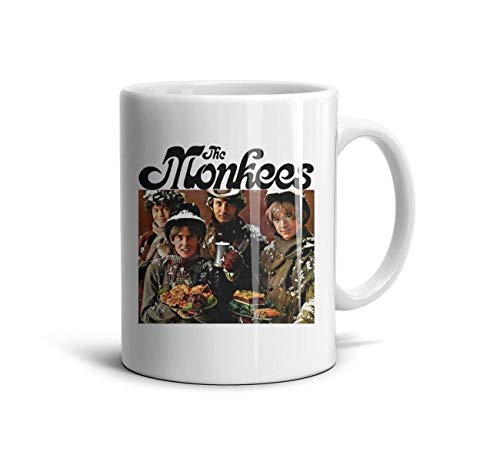 ENGXG11 Rock Cool Special White Novelty Daily Use Inspirational Stream The-Monkees-Christmas-Party- Coffee Mug TeaMugs Brithday Gift Office Lovers Home Decor Engagements Anniversaries Souvenir Cup