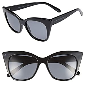 "PRIVÉ REVAUX Madelaine Collection ""Mister"" Handcrafted Designer Sunglasses (Black)"