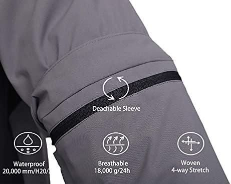 FIT SPACE Waterproof Golf Rain Jacket for Men 20K Performance Lightweight Rain Jackets for All Sports