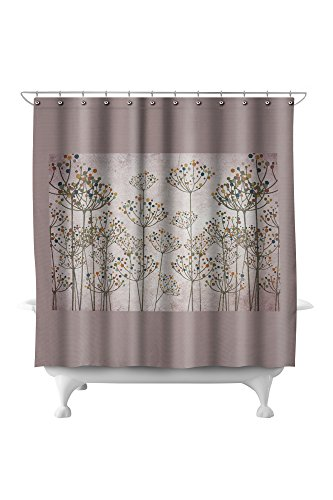 Abstract Flowers - Colorful Floral Pattern (71x74 Polyester Shower (Pottery Barn Floral Shower Curtain)