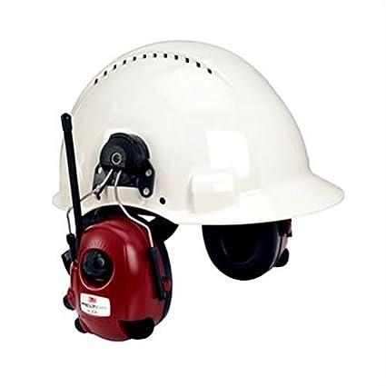 3M M2RX7P3E - Orejera Alert AM/FM radio estéreo dependencia de nivel, roja,