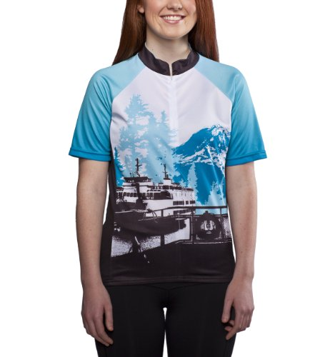Pacific Northwest Cycling Jersey, Blue, Women's