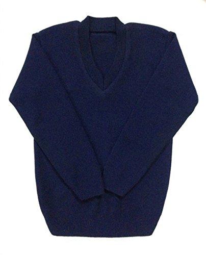 Ashish Oswal Navy blue school uniform v-neck sweater: Amazon.in ...