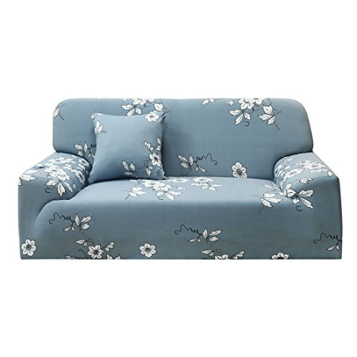 Four Seater - uxcell 1 2 3 4 Seater Sofa Covers Sofa Slipcovers Protector Elastic Polyester Spandex Fabric Featuring Soft Form Fit Couch Covers With One Free Cushion Case #9 (92 x 122 Inch)