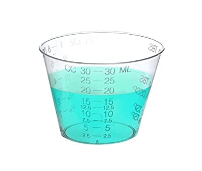 One Ounce Medicine Cups - High Grade FDA Approved Medicine Cups for Measuring Liquid and Pills in Ounces, Drams, and CC's