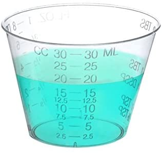 One Ounce Medicine Cups for Measuring Liquid and Pills (or Epoxy) in Ounces and Drams and CCs and TBS and ML (400)