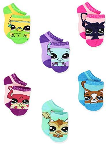 (Littlest Pet Shop LPS Girl's Toddler Women's No Show 6 Pack Socks (6-8 Girls (Shoe: 10-4),)