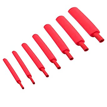 """1//4/"""" Dual Wall Adhesive Glue Lined 3:1 Heat Shrink Tubing 2×5ft Black /& Red"""