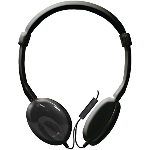 Maxell Classic Headphone with Microphone, Black (196106)