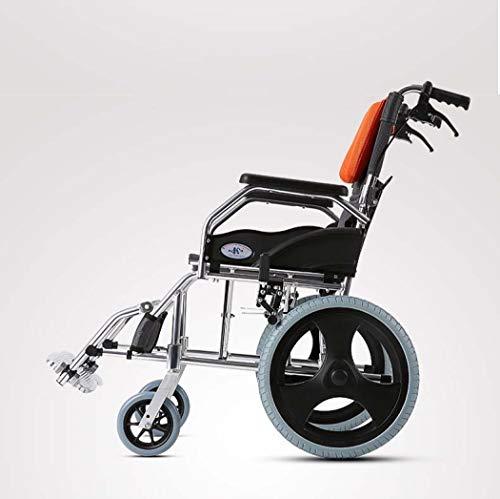 DPPAN Drive Medical Transport Silla de ruedas Plegado ligero para adultos, reposapiés elevadores de aleación de aluminio para transferencias fáciles,18