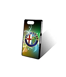 Custom Z3 Compact Funda Case For Boys, Italy Famous Brand Alfa Romeo Car Logo New Style With Plastic Material & Ultra Thin Design Finish Protect Your Moblie Phone(Sony Xperia Z3 Compact)