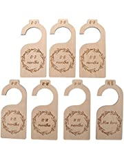 ILamourCar Wood Baby Closet Dividers, 7 Pieces Baby Closet Organizers Hanging Closet Dividers, Nursery Decor from Newborn to 24 Months for Home Nursery Baby Clothes