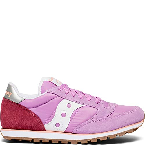 Saucony Originals Women's Jazz Lowpro Sneaker, Purple/Magenta/Peach, 8 M US