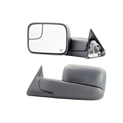MAPM - Driver/Left Side Power Heated Manual Folding Flip-Up Towing Mirror for Dodge Ram 1500 2500 3500 Pickup Truck 2002-2008 (Dodge Manual Parts)
