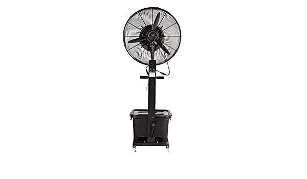 Ventilador Industrial de pie Oscilante con Nebulizador de Agua ...