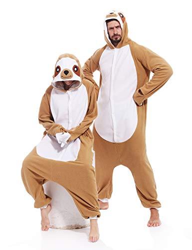 Sloth Onesies Adult Animal Pajamas Kigurumi Unisex Halloween Costume for Women Men