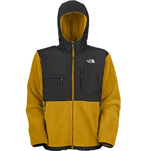 b59390cda0ae The North Face Men s Denali Hoodie Recycled Leopard Yellow Asphalt Grey