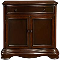 Pulaski DS-P017033 Traditional Curved Front Hall Chest with Rich Brown Finish