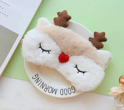 Protezione per gli occhi di sonno alce orso cartone animato carino