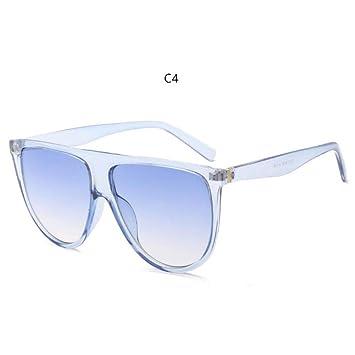 LETAM Gafas de sol Gafas de Sol Finas y Planas para Mujer ...