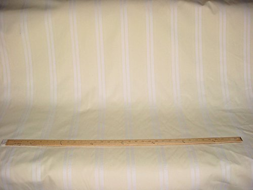 (Robert Allen St. Petersburg in Double Cream - Embroidered Stripe Designer Upholstery Drapery Fabric - By the Yard)