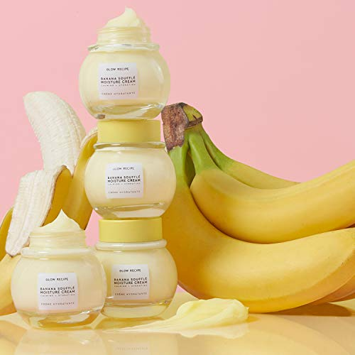 Glow Recipe Banana Souffle Moisture Cream – Soothing, Calming + Hydrating Lightweight Formula with Chia Seed, Magnesium…