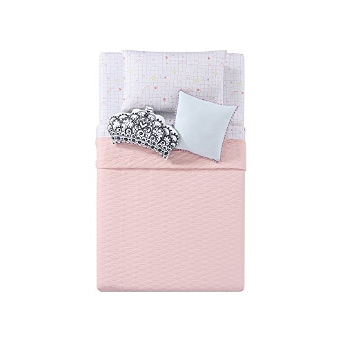 Laura Hart Kids Quilted Jersey Blanket in Pink, Full/Queen, Pink by Laura Hart Kids (Image #2)