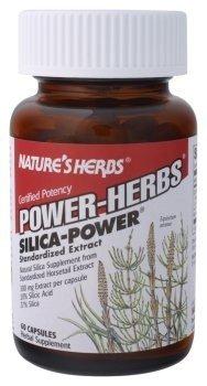 Natures silice Herbes Puissance Puissance Cert 60C 60 Capsules