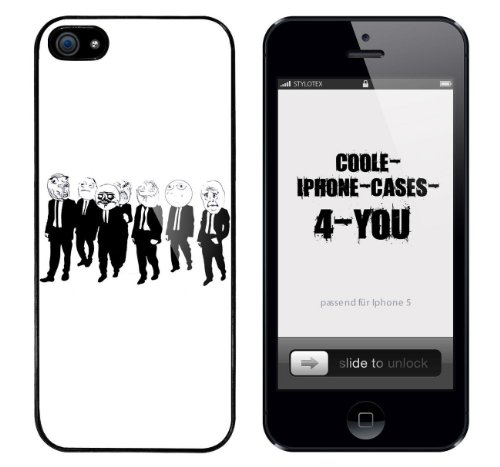 Iphone 5 / 5S Schutzhülle Troll in Black - schwarzer Rahmen