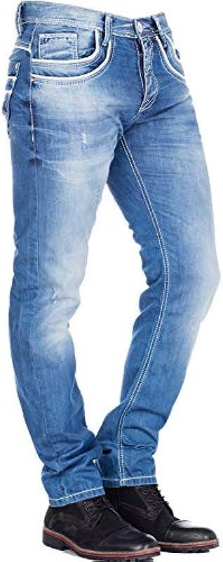 Cipo & Baxx dżinsy Regular fit (niebieskie), kolor: niebieski , rozmiar: 38W / 32L: Cipo & Baxx: Odzież