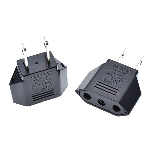 10pcs/Set EU Euro Europe to US USA AC Power Plug Travel Converter Adapter Charger Home Tools
