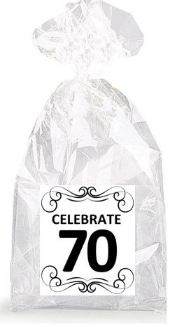 Image Unavailable Not Available For Color Elegant Celebrate 70th Birthday Party Favor Bags