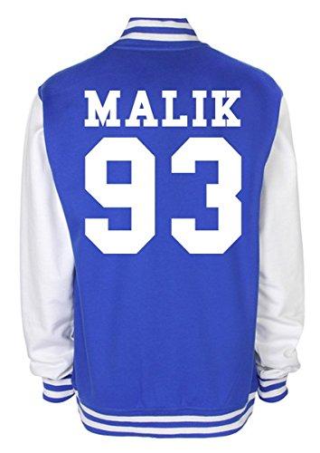 Minamo Zayn Malik Date Of Birth Varsity Jacket X-Large (46-48 inches) Blue