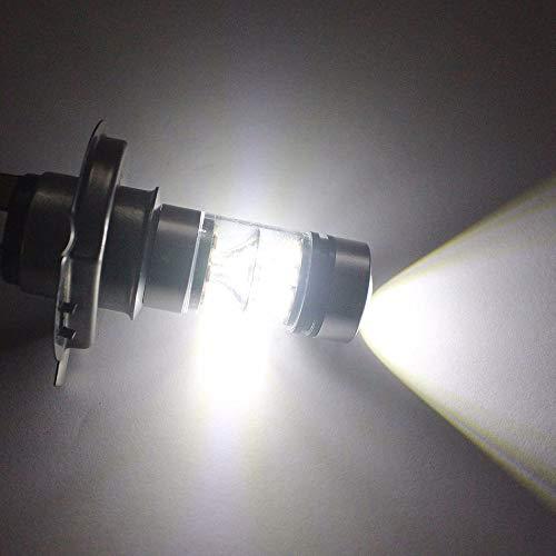 TOOGOO 2Pcs la Puissance /éLev/éE Une Men/é Le Phare 6000K De Lampe Dantibrouillard De Voiture De Lampoule 100W 20Led De H4 Hb2 9003 Blanc