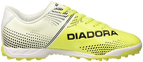 Diadora 830 Iii Tf, Botas de Fútbol para Hombre Bianco (Bianco/Giallo Fluo Diadora /Ne)