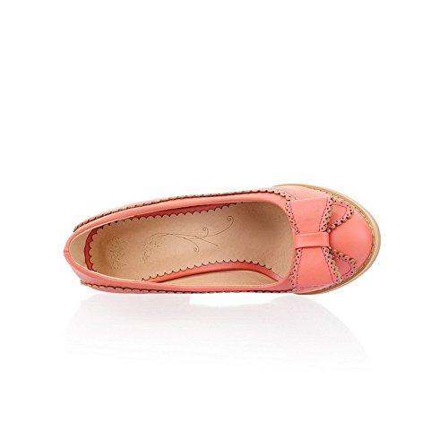 High Pull Balamasa On Shoes Heels Pink Pumps Womens Solid B7qRn46